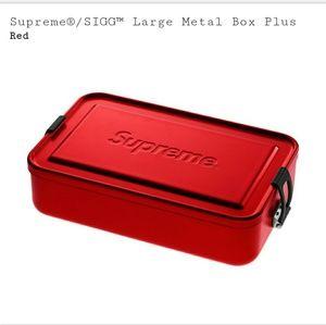 Supreme sigg small large metal box plus